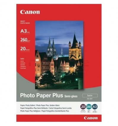 Hartie foto Canon Plus Semi-gloss SG-201 A3 - 20 coli