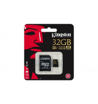 Card de memorie Kingston microSDHC 32GB Class U3 UHS-I + Adaptor SD