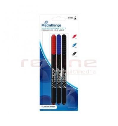 Marker Multimedia permanent MediaRange, set 3 bucati