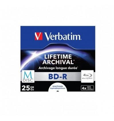BD-R M-Disc VERBATIM, 4x, 25GB, printabil Jewel Case 43823