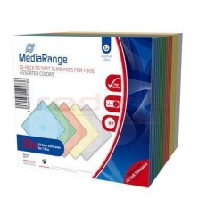 Carcasa CD Slim MediaRange pentru un disc, 5mm, culori asortate, pachet 20 bucati