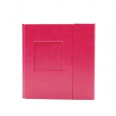 Carcasa 2 DVD-uri Piele Ecologica Culoare Roz Tavita Neagra