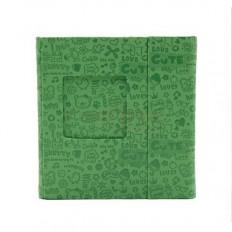 Carcasa 3 DVD-uri Piele Ecologica Culoare Verde