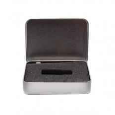 Cutie din metal pentru Memorie USB, capac cu balamale, BOX-118M