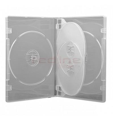 Carcasa DVD Multi 4 Transparenta cu tavita