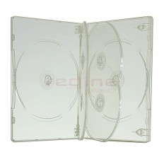 Carcasa DVD Multi 6 Transparenta SUPER CLEAR cu 2 tavite 22mm