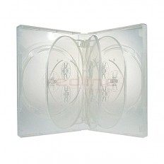 Carcasa DVD Multi 8 Transparenta Super Clear cu 3 tavite