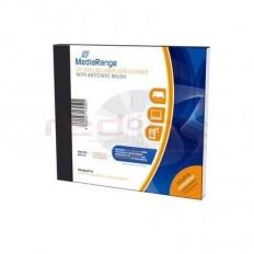 Disc de curatare lentile CD/DVD/BD MediaRange cu pensula antistatica