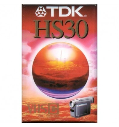 Caseta Video TDK VHS-C 16mm HS 30 min EC-30HSEN