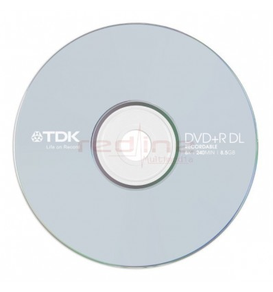 DVD+R DL Dual Layer TDK Blank 8x 8.5GB