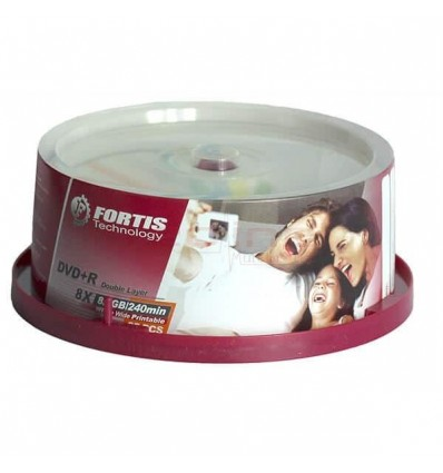 DVD+R Dual Layer Blank Fortis 8X 8.5GB