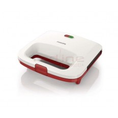 Sandwich-Maker Philips Daily Collection HD2392/40, 820 W, Alb/Rosu
