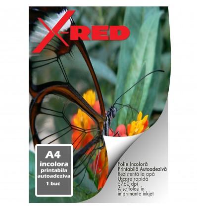 Folie Foto X-Red, Transparenta, Printabila, Autoadeziva, A4, Inkjet