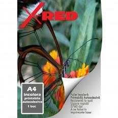 Folie Foto Laser X-Red, Transparenta, Printabila, Autoadeziva, A4