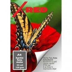 Hartie Foto X-RED Autoadeziva, Mata, A4, 128g, 50 coli