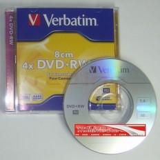 MINI DVD+RW Verbatim 4x 1,4GB JC