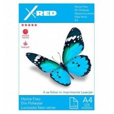 Folie Foto Laser X-Red de Poliester, Printabila Fata-Verso, A4