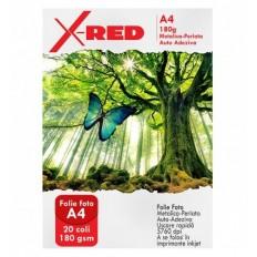 Folie Foto Autoadeziva X-Red Perlata cu efect Metalizat, Lucioasa, 20 coli, 180g