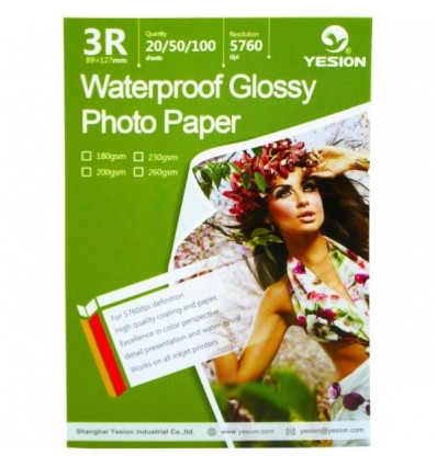 Hartie Foto 9x13 Yesion Waterproof Lucioasa 3R 260g 20 coli