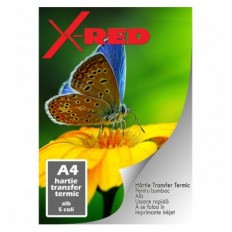 HARTIE TRANSFER TERMIC A4 PENTRU TRICOURI ALBE X-RED
