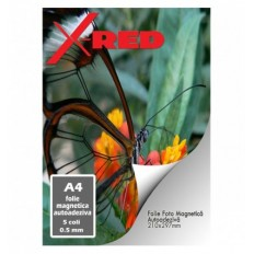 FOLIE MAGNETICA AUTOADEZIVA X-Red A4 0.5mm 5 coli