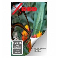 FOLIE MAGNETICA AUTOADEZIVA X-Red 10x15 0.5mm 5 coli