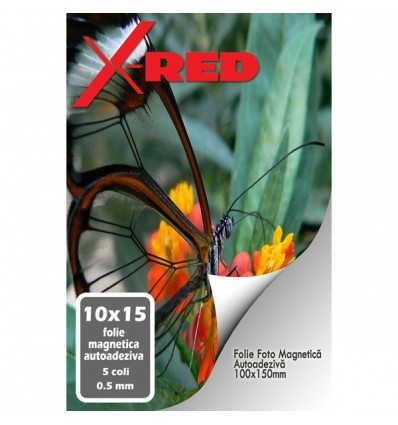 FOLIE MAGNETICA AUTOADEZIVA X-Red 10x15 0.5mm 5 coli