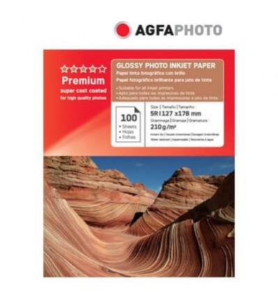 HARTIE FOTO AGFA GLOSSY INKJET 13X18 210G/100COLI
