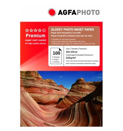 HARTIE FOTO AGFA GLOSSY INKJET 10x15 210G/100COLI
