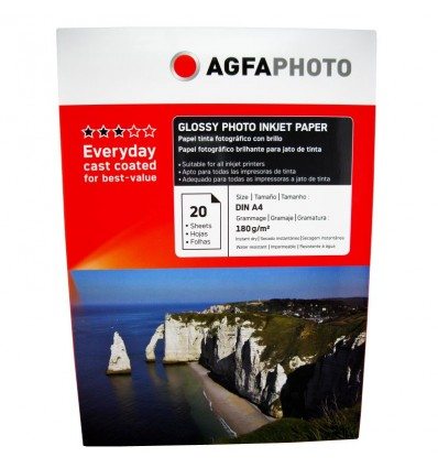 HARTIE FOTO AGFA GLOSSY INKJET A4 180G/20COLI