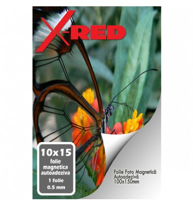 FOLIE MAGNETICA AUTOADEZIVA X-Red A4 1mm 5 coli