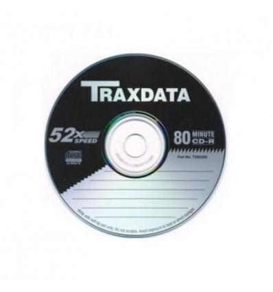CD-R Traxdata Blank 52x 700MB Black & Silver