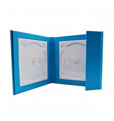 Carcasa 2 DVD-uri Piele Ecologica , culoare bleu