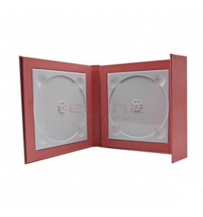 Carcasa 2 DVD-uri Piele Ecologica , culoare roz