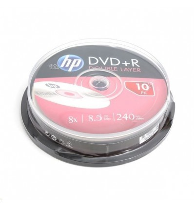 DVD+R Dual Layer HP, 8.5GB, 240 min, 8X