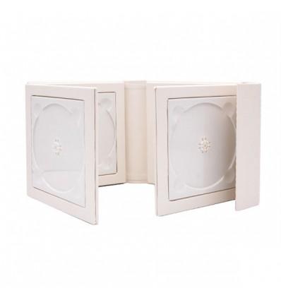 Carcasa 6 DVD X-Red Piele Ecologica , culoare alba