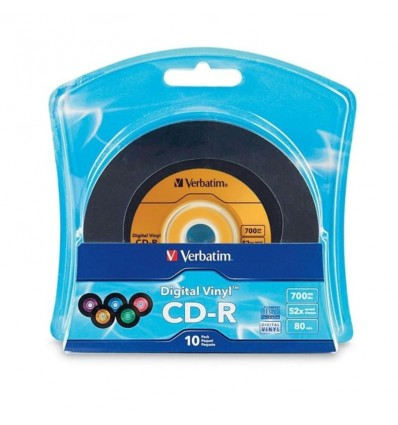CD-R Verbatim 96858 Digital Vinyl 80 min 700Mb,blister 10 bucati - VVS